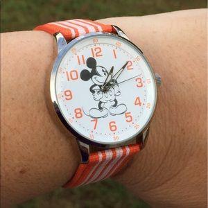 Mickey Mouse Disney Parks orange white watch